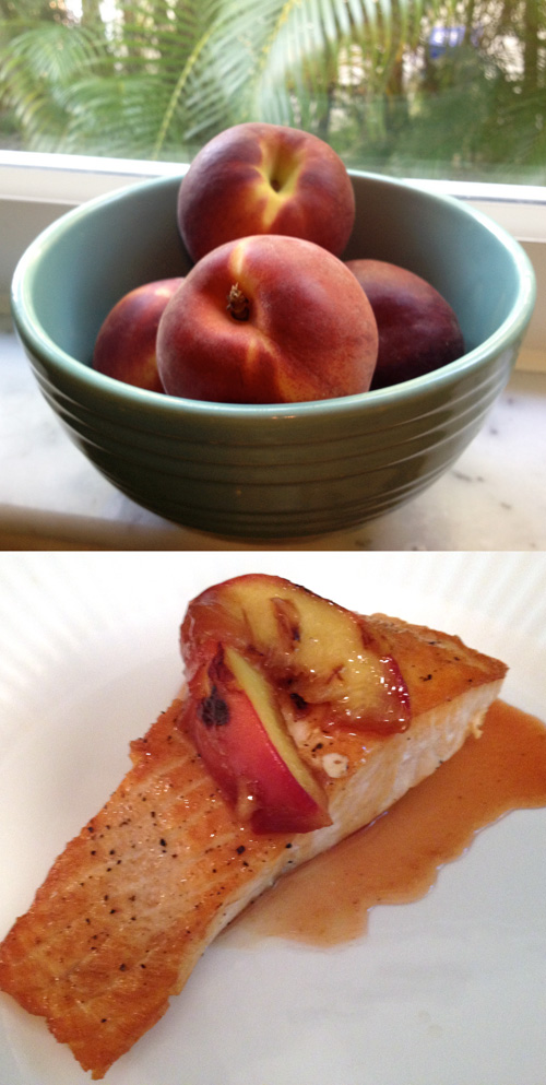 peaches salmon